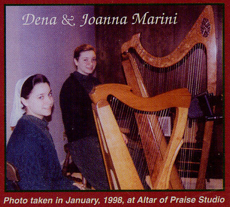 Picture of Dena And Joanna Marini in January of 1998 at the Altar Of Praise Studio.