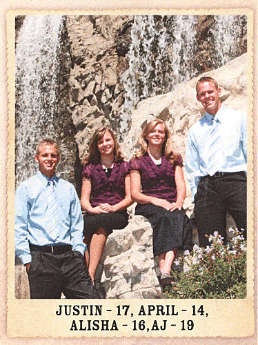 Stephen Ray Nichols -- Picture of his four children (2008)