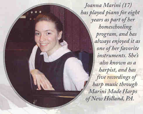Joanna Marini pictured on the inside of the CD insert taken  in 2002.